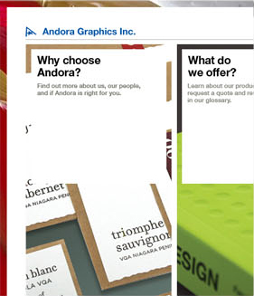 Andora Website Screenshot