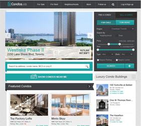 Condos Website Screenshot