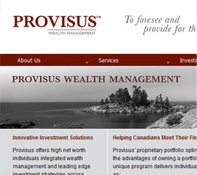 Provisus Website Screenshot